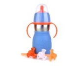 Kid Basix KB-SafeSippy2-Blue 2 Trinkflasche, blau