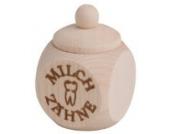 Hofmeister Holzwaren Holzdose mit Schraubverschluss und Aufdruck mit Tampondruck (4 cm/Milchzähne)
