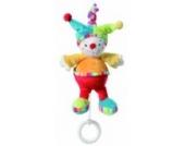 Fehn 152050 Mini-Spieluhr Clown / Kuscheltier mit integriertem Spielwerk mit sanfter Melodie zum Aufhängen an Kinderwagen, Babyschale oder Bett, für Babys und Kleinkinder ab 0+ Monaten