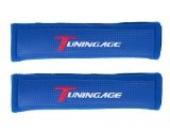 Tuningage Gurtpolster blau sehr weich und dick LxBxH 260x70x35mm