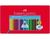COLOUR GRIP Buntstifte wasservermalbar, 36 Farben, Metalletui