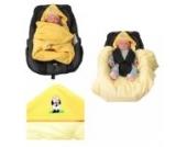 Babyschalendecke mit Applikation von HOBEA-Germany - verschiedene Farben, Farben Winterdecken:gelb