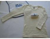 Cosilana Kinderunterhemd langarm Seide/Wolle-Baumwolle mit Feinwaschmittel von Wiki-Naturwaren, 176, natur (01)