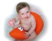 Pomfitis Shibaba Badewannensitz mit Baigneuse Wanne für Babys, Kinder Protektor Toddler, Licht Blau