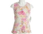 Enanita Tunika Kleid Blumen Weiß 74
