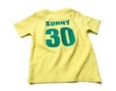 Nappy Head Individuelles Baby/Kinder-T-Shirt - Gelb mit kurzen Ärmeln (Fußballhemd),12-18 Monate