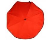 Asmi UV Sonnenschirm Elite XL 70 Rot mit Silence Clip 2 Halterung UPF 50