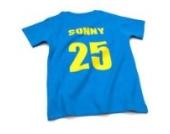 Nappy Head Individuelles Baby/Kinder-T-Shirt - Knallblau mit kurzen Ärmeln (Fußballhemd),6-12 Monate