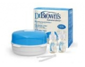 Dr. Brown Mikrowellen-Dampfsterilisator Natural Flow + 2 Flaschen