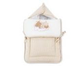 Fuß- und Kuschelsack mit Gurtschlitz von Sleeping Bear in 5 Farben erhältlich, Farbe:Beige