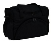BABYLUX Pflegetasche WICKELTASCHE Kinderwagentasche Windeltasch für Kinderwagen (Schwarz)