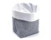 Sugarapple Utensilo Stoff Aufbewahrungsbox aus Baumwolle 19 x 13,5 x 13,5 cm, Stoffbox fürs Bad, als Wickeltisch Organizer oder Windelspender Korb, Streifen dunkelblau