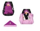 Babyschalendecke mit Applikation von HOBEA-Germany - verschiedene Farben, Farben Winterdecken:beere rosa