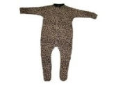 BabywearUK Schlafanzug Leopardenprint - 0-3Monate - British Made