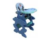 Babyhochstuhl Kinderhochstuhl ARTI Betty J-D008 Hund Doggy Blau Grün Baby Kinder Hochstuhl Kombihochstuhl Tisch und Stuhl