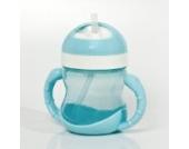 Dr. Schandelmeier 355435 Trinklernflasche 2 in 1 (180 ml), blau