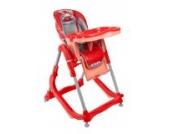 Babyhochstuhl Kinderhochstuhl ARTI Modern RT-004 Red Gray Rot Grau Winner Kinder Hochstuhl mit Wippe-Funktion