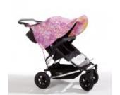 Sonnenschutz Sonnendach Sonnensegel Sonnenverdeck Sonnette® double UPF 80+ für Zwillingswagen Rosabella pink