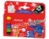 Javana texi mäx Stoffmalstifte Glitter, 5 Farben