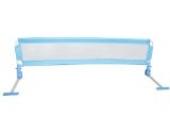 150cm Bettgitter Bettschutzgitter für Kinder robust&sicher Blau