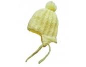 Baby Jungen/Mädchen Strickmütze/Bindemütze,gelb,Größe 9-18 Monate