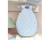 AN1-56-02 Baby-Joy Babyschlafsack Schlafsack Jersey ANNA 50/56cm Winterschlafsack Blau