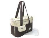 GMMH 3 tlg Wickeltasche Pflegetasche mit Wickelunterlage, Baby, Farbe beige braun, Windeltasche Babytasche Reise