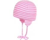 Döll Trikot-Bindemütze gestreift fuchsia pink