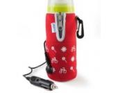 Nuvita 1073 Travelmilk Flexi Autoflaschenwärmer, rot